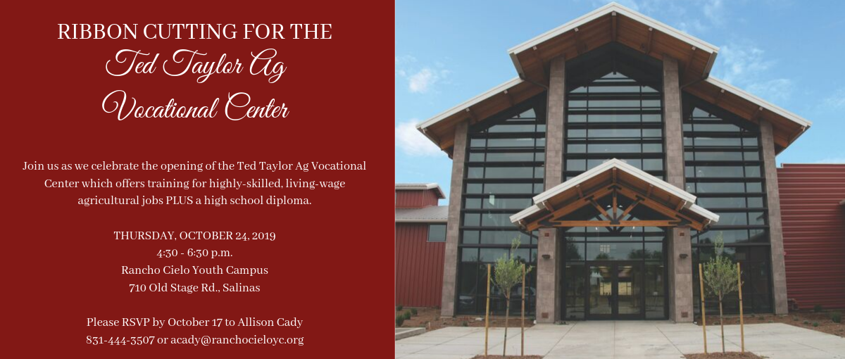 TTVC Ribbon Cutting Oct. 24, 4:30 p.m. at the Ranch