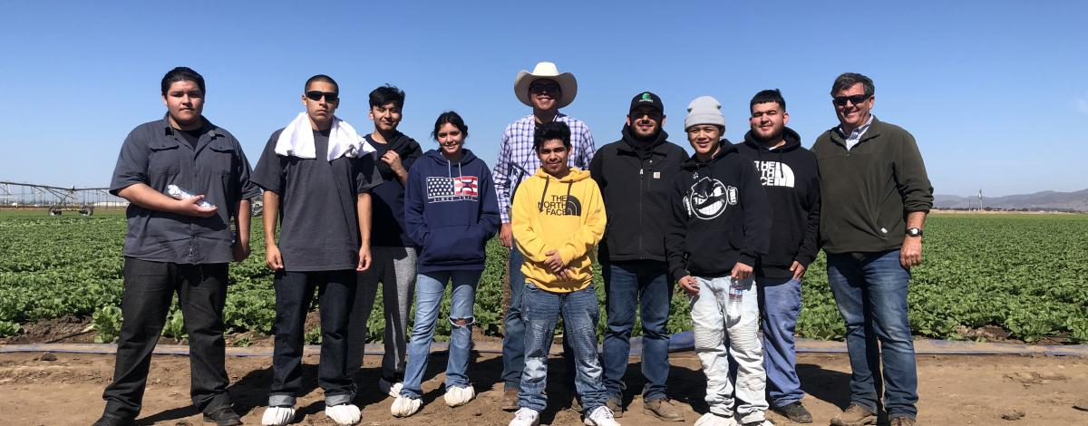 Students at Costa Farms