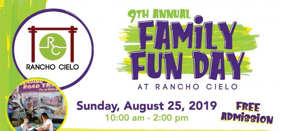 Family Fun Day August 25. 10am-2pm