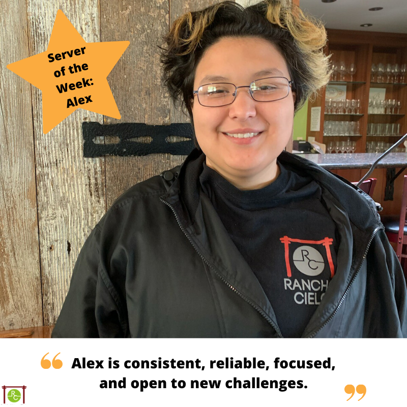 Server of the Week Alex