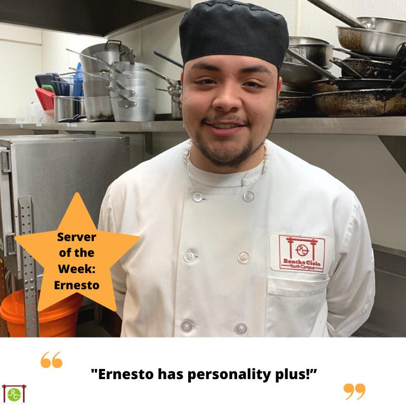 Server of the Week Ernesto