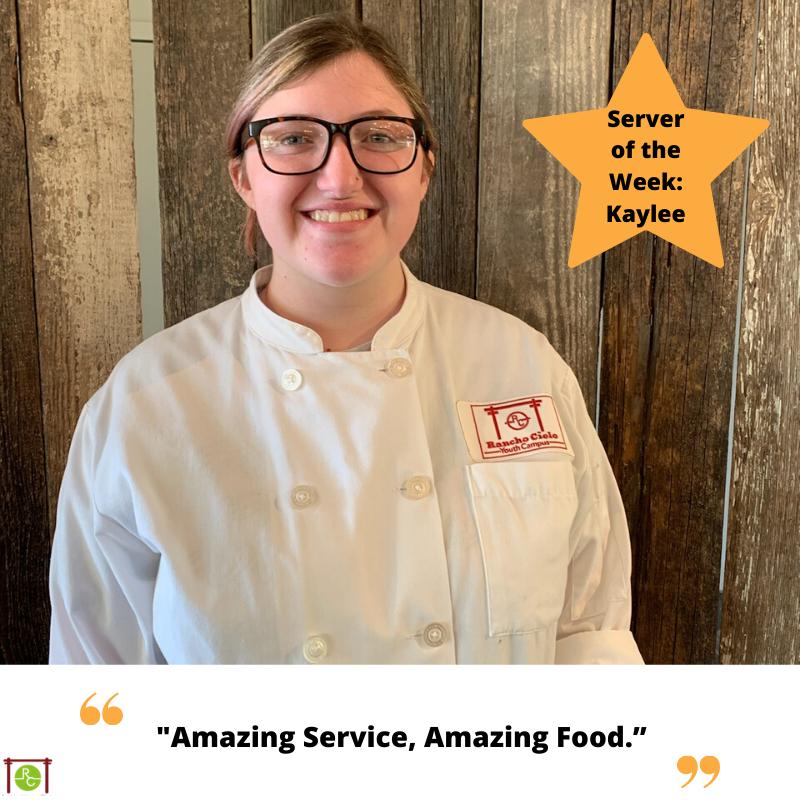 Server of the Week Kaylee
