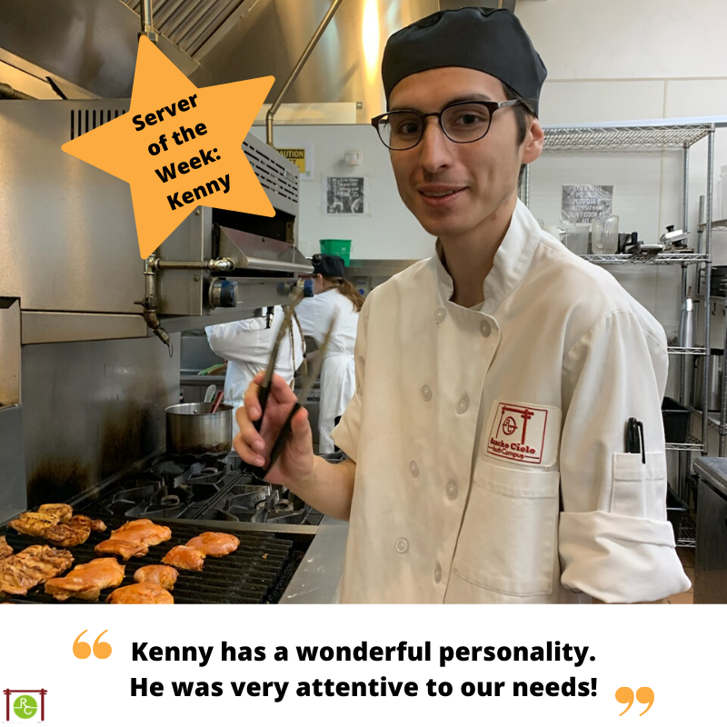 Server of the week Kenny