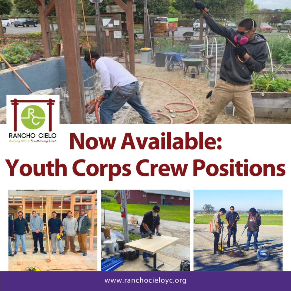 Youth Corps positions available